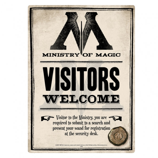 Harry Potter - Sign Tin Small Ministry Of Magic