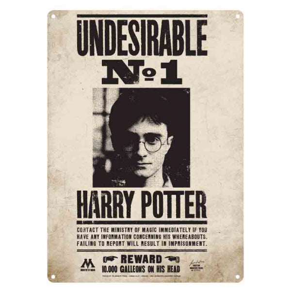 Harry Potter - Sign Tin Small Undesirable No 1