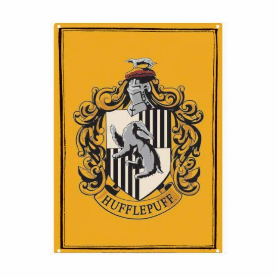 Tin Sign Small - Hp (Hufflepuff)