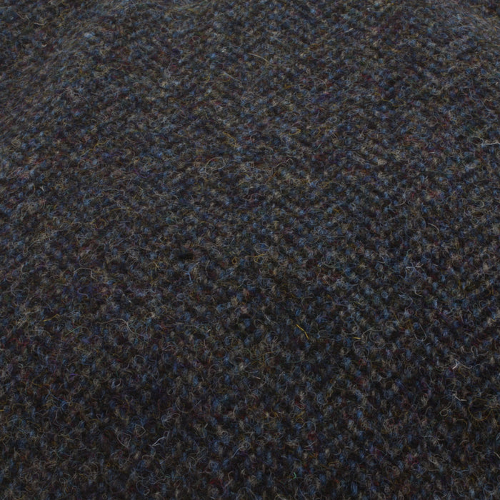 Men's Tweed Stornoway Y02 Flat Cap  2012 Grey/Blue Herringbone