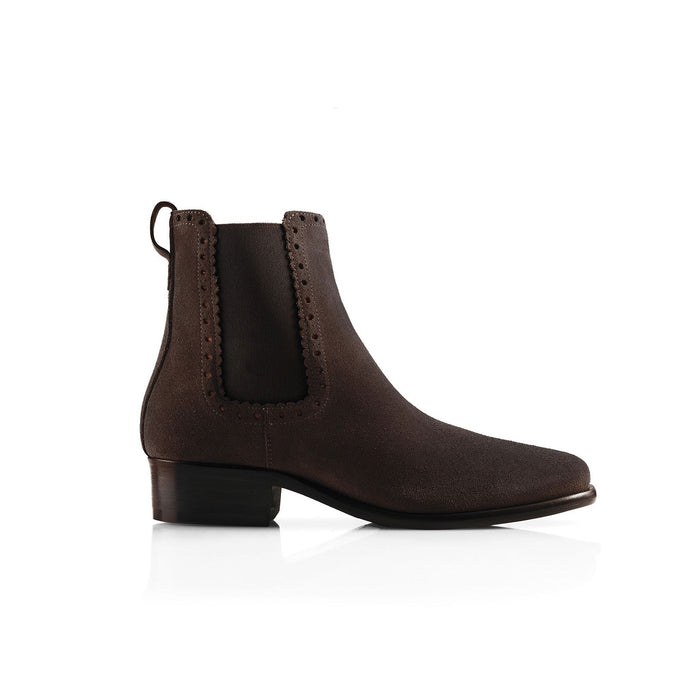 The Chelsea Suede Ankle Boot Chocolate