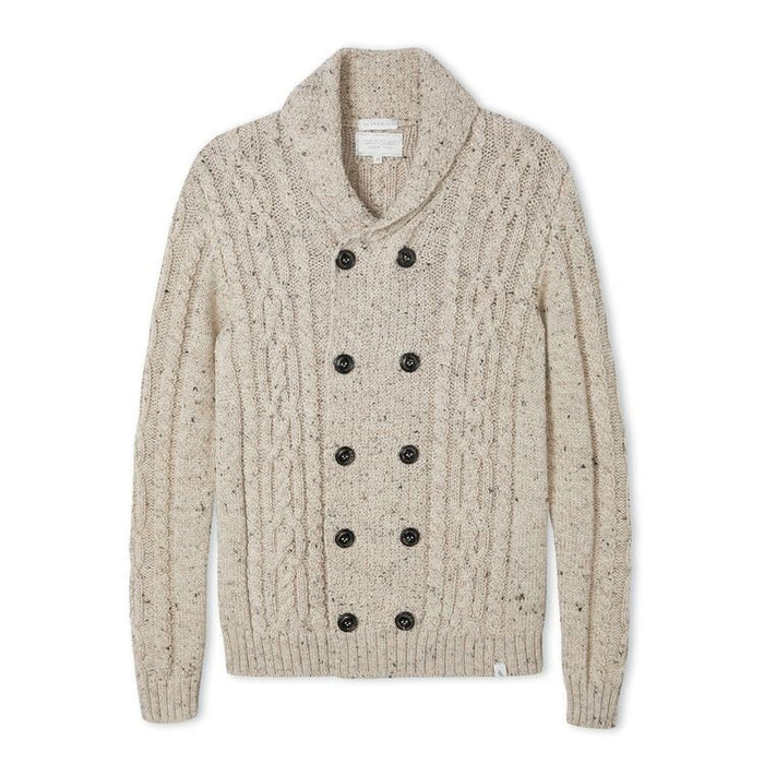 Men's Peregrine Knitted Aran Coat Made In England Skiddaw