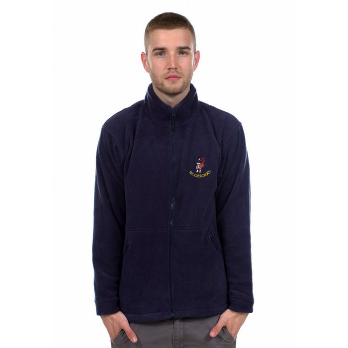 Gents Scotland Piper Fleece Navy