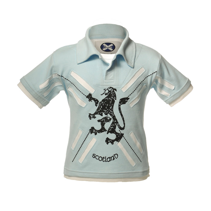 Kids Layered Polo Shirt Baby Blue