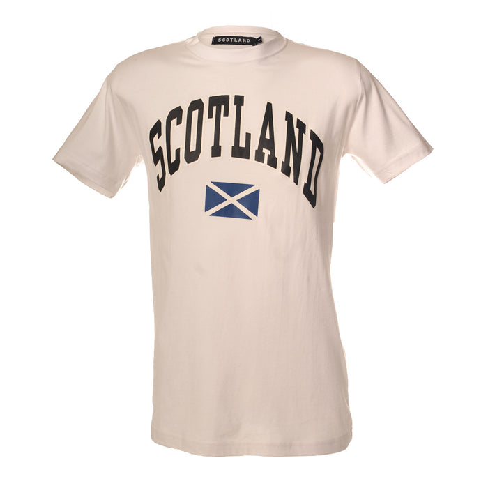 (D) Scotland Harvard Print T/Shirt White
