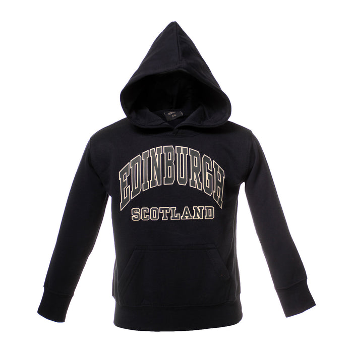 Kids Edinburgh Harvard Print Hooded Top Navy