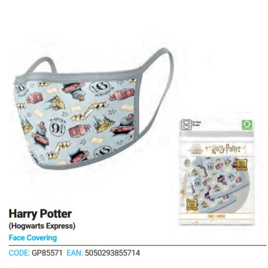 2 Pack Hp Hogwards Express Face Covering