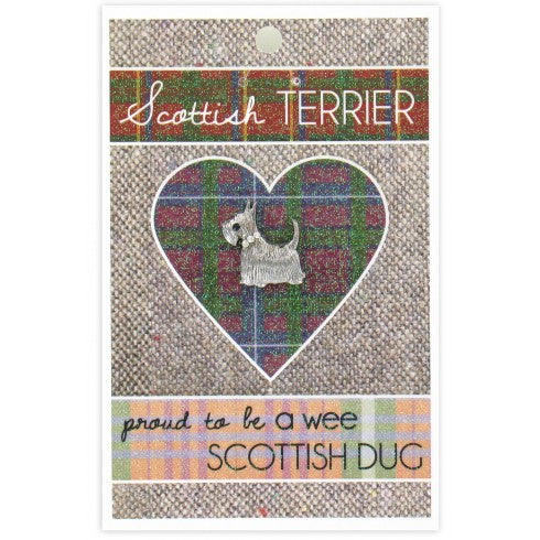Gem Scottie Dog Pin Wee Scottish Dug