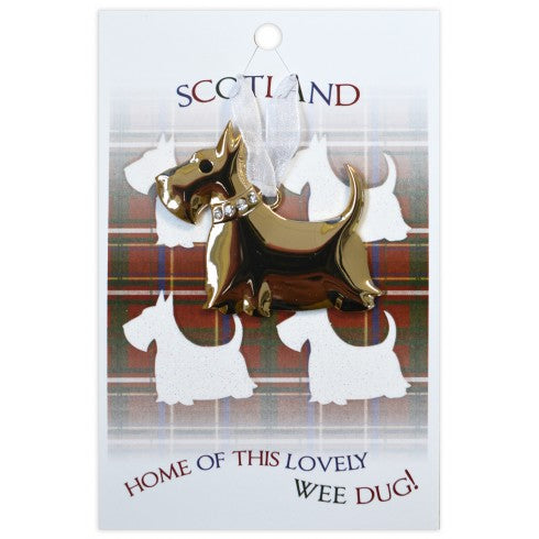 Lg. Scottie Dog Hanger Lovely Wee Dug