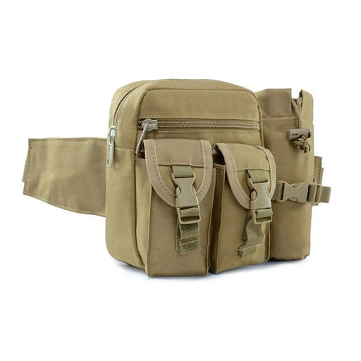Tactical Waist Pack Pouch with Water Bottle Holder Waterproof