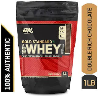 Gold Standard 100% Whey Protein Powder 1 Lbs Double Rich Chocolate