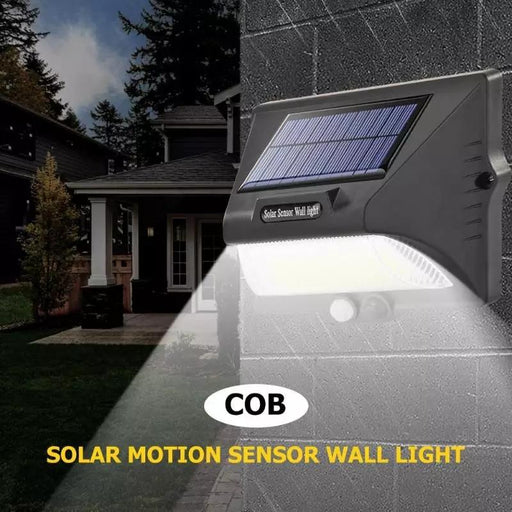 Rechargeable Solar COB LED Wall Light | PIR Motion Light Sensor