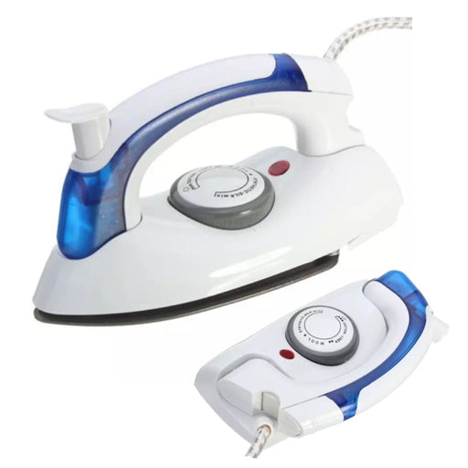 Travel iron steam function folding iron