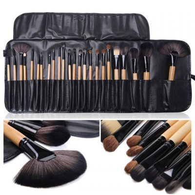 Bobbi Brown 24 Pcs Professional Makeup Eyebrow Shadow Cosmetic Brush Set Kit With Pouch