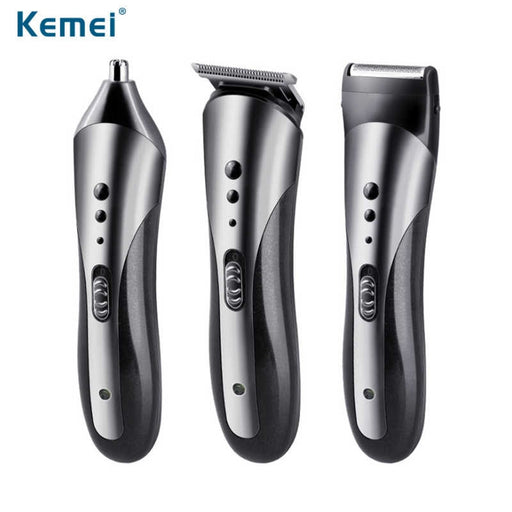 Kemei 3-In-1 Grooming Kit Hair Trimmer KM-1407