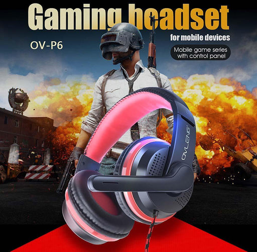 Stereo Gaming Headset With 40mm High-Fidelity Speaker & Mic