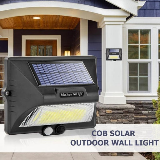 Rechargeable Solar COB 32 LED Wall Light | PIR Motion Light Sensor