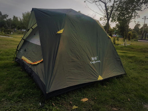 Automatic 4 to 5 person capacity with extra parachute outer sheet waterproof tent.