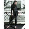 Oil Glossy Shiny Rompers Womens Jumpsuit Long Sleeve Zipper Open Crotch Bodysuit Sexy Bodystocking Catsuit Body Sculpting Suits