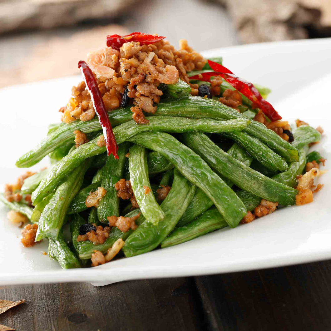 Dry Braised Green Beans With Minced Pork