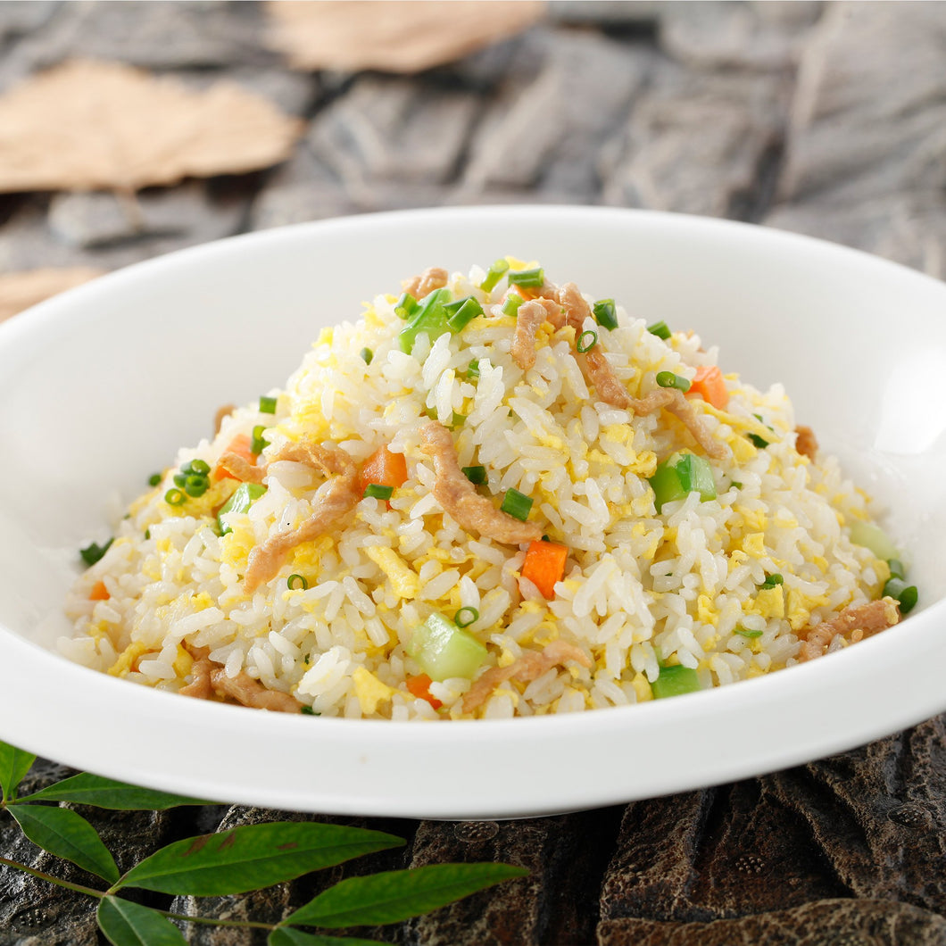 Golden Fried Rice With Egg And Shredded Pork