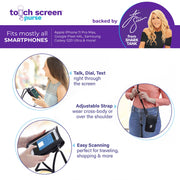 Touch Screen™ Purse - Black - Use Your Phone While Keeping It Safe And Protected!