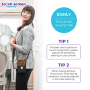 Touch Screen™ Purse Deluxe Gray - Use Your Phone While Keeping It Safe And Protected!