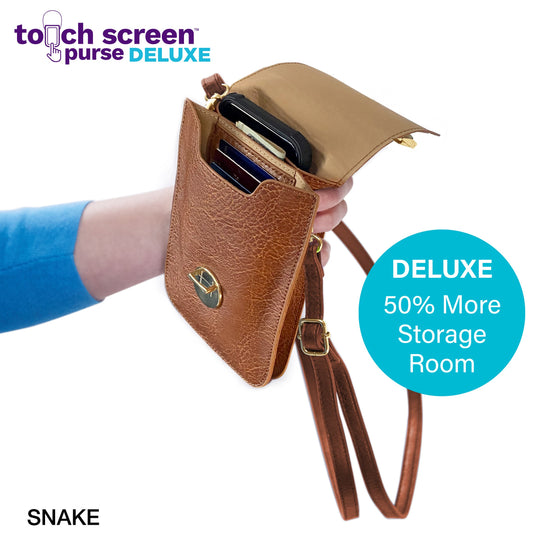 Touch Screen™ Purse Deluxe Snake - Use Your Phone While Keeping It Safe And Protected!