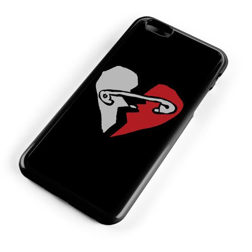 New Broken Scene Safety Pin Heart iPhone 8 Plus Phone Case Cover