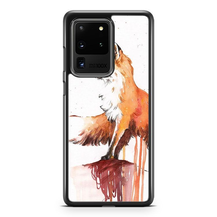 Artsy Beautiful Red Fox In Autumn Samsung Galaxy S20 Ultra Phone Case Cover