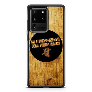 5 Seconds Of Summer Logo Wooden Samsung Galaxy S20 Ultra Phone Case Cover