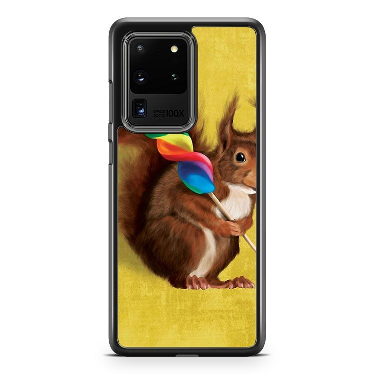 A Funny Squirrel Samsung Galaxy S20 Ultra Phone Case Cover