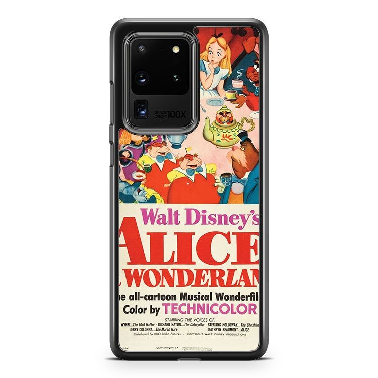 Alice In Wonderland Poster Samsung Galaxy S20 Ultra Phone Case Cover