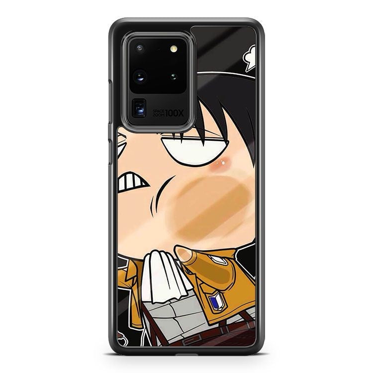 Attack On Titan Levi Funny S8 3D Samsung Galaxy S20 Ultra Phone Case Cover