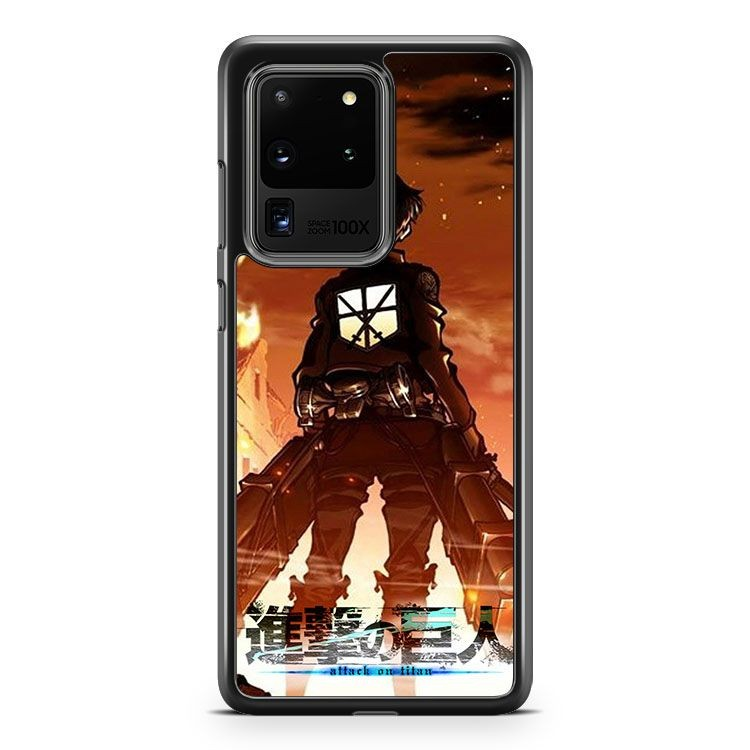 Attack On Titan Eren Yeager Samsung Galaxy S20 Ultra Phone Case Cover
