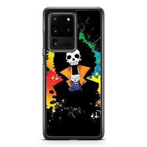 Afro Grunge Skull Brooke One Piece Samsung Galaxy S20 Ultra Phone Case Cover