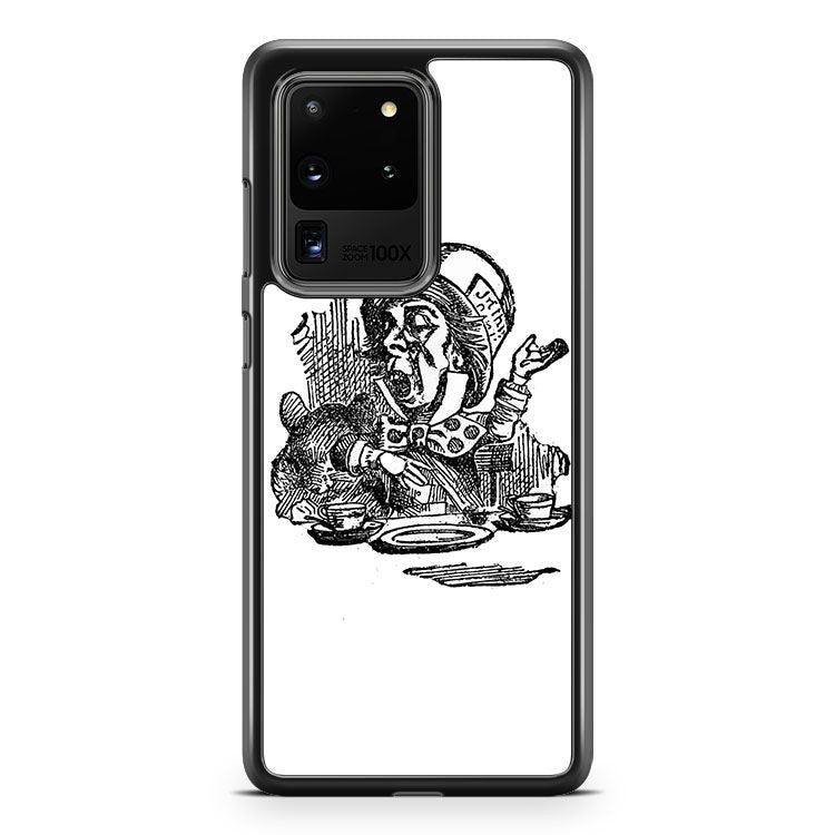 Alice In Wonderland Bunny Silhouette Samsung Galaxy S20 Ultra Phone Case Cover