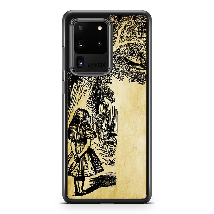 Alice In Wonderland Clip Art Mad Hatter Cat Samsung Galaxy S20 Ultra Phone Case Cover