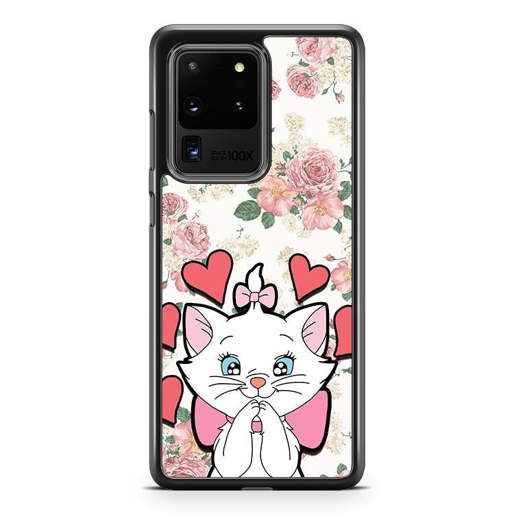 Aristocats Floral Marie White Samsung Galaxy S20 Ultra Phone Case Cover