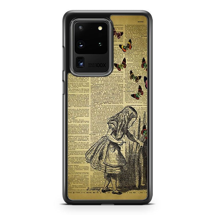 Alice In Wonderland Book Samsung Galaxy S20 Ultra Phone Case Cover