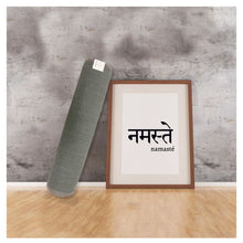 Load image into Gallery viewer, Masu Mudra - Premium Jute and Natural Rubber Yoga mat- Earthy grey colour