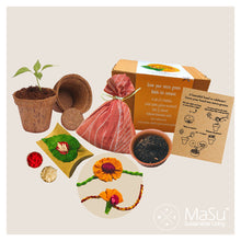 Load image into Gallery viewer, MaSu Microgreens Rakhi Kit - Soorajmukhi Set