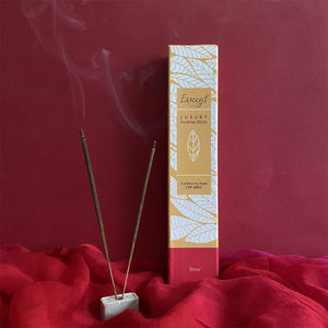 Luxury Incense Sticks- Pack of 4 - Rose, Loban, Lemongrass & Lily