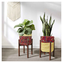 Load image into Gallery viewer, Aloma  Jute  Planter Basket - Kalamkari Print