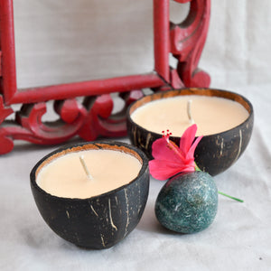 Premium Coconut Shell Scented Candle - Pack of 4