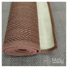 Load image into Gallery viewer, Masu Mudra- Premium Jute and Natural Rubber Yoga Mat- Earthy Brown colour