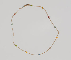 Rainbow Chain Necklace - Luiny
