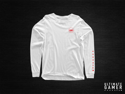 The Ultimate Gamer Long-Sleeve Shirt (White)