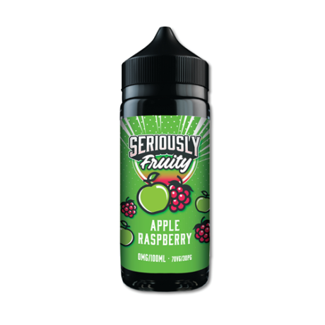 SERIOUSLY FRUITY 100ML APPLE RASPBERRY