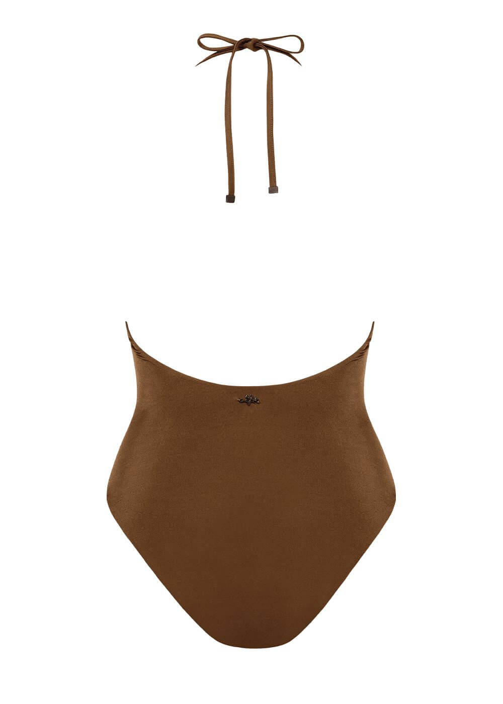 Perfect Plunge Halter One Piece - Spice Bronze